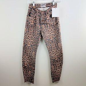 One Teaspoon Jeans - One Teaspoon Black Cat Scallywag Leopard Jeans 26